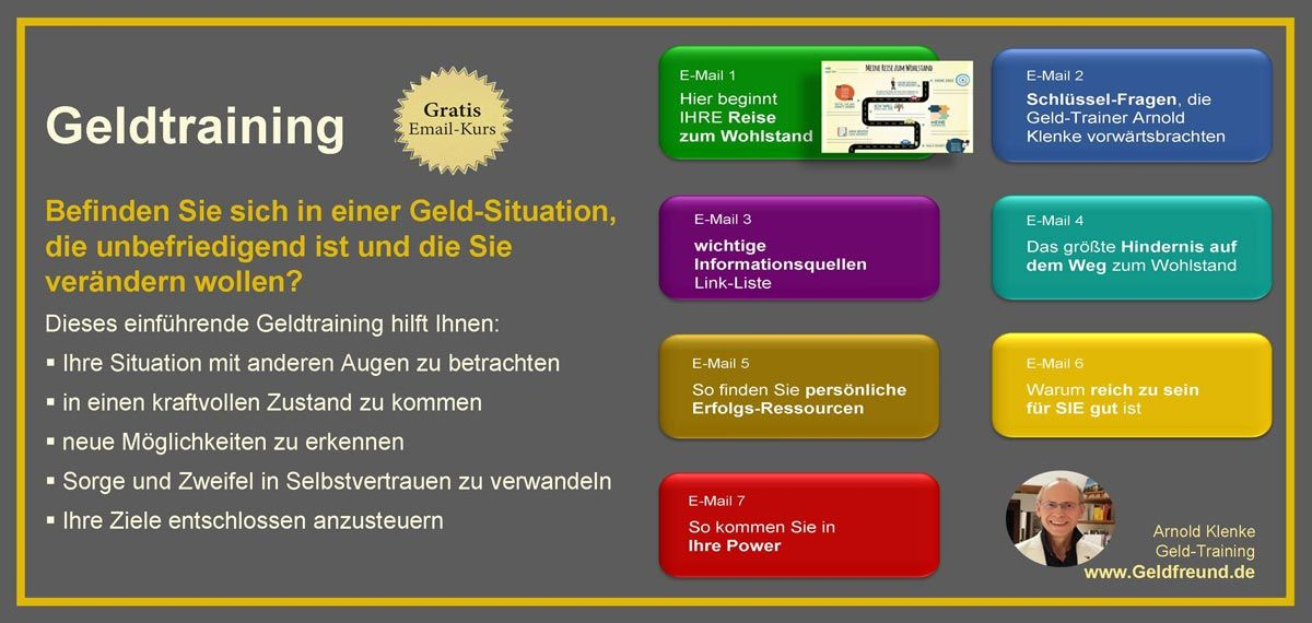 So funktioniert das GRATIS Geldtraining